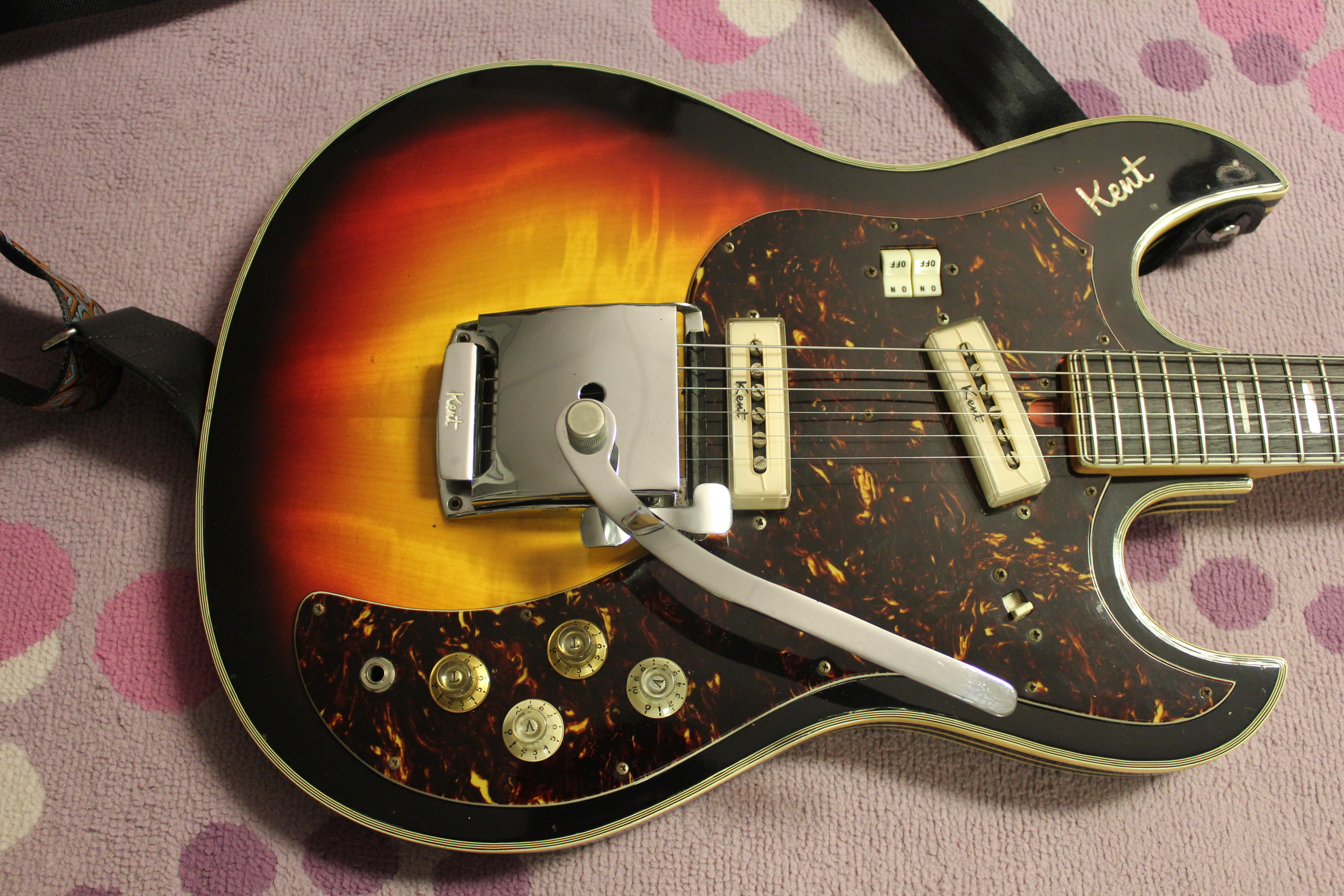 Teisco Guitar Wiring Diagram Imperial Input Jack 1967 69 Kent 740 Solidbody Electric Japan Made Drowning Rh Drowninginguitars Com