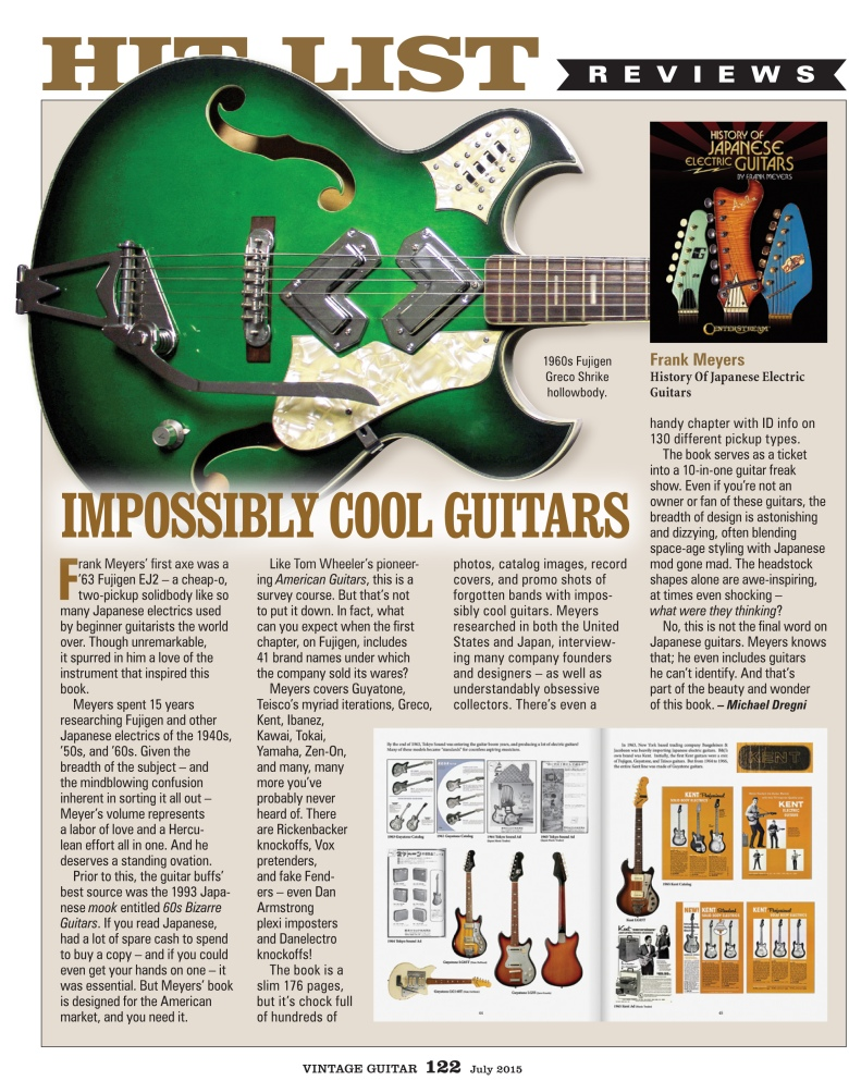 Vintage Guitar Magazine July 2015